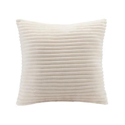 Williams Corduroy Plush Square Pillow Ivory