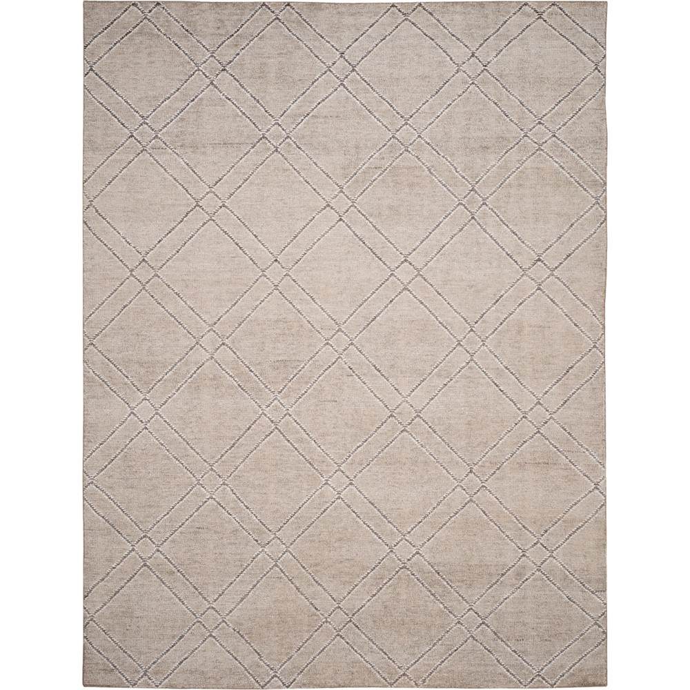 8'X10' Geometric Knotted Area Rug Khaki/Gray (Green/Gray) - Safavieh