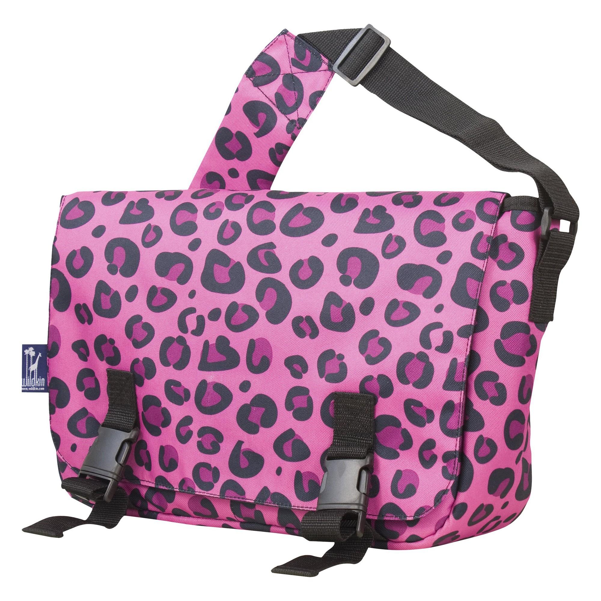 Wildkin Leopard Messenger Backpack - Pink, Girl's, Size: Small