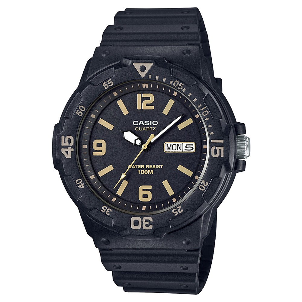 Men's Casio MRW300H-1B3VCF Analog/Digital Watch - Black/Gold, Size: Large