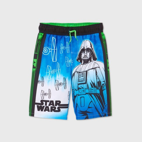 Boys' Star Wars Swim Trunks - Green - image 1 of 2