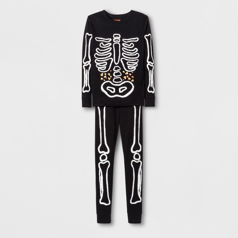 02ff66ffa571 Boys  Skeleton Graphic Tight Fit Pajama Set - Cat   Jack™ Black   Target