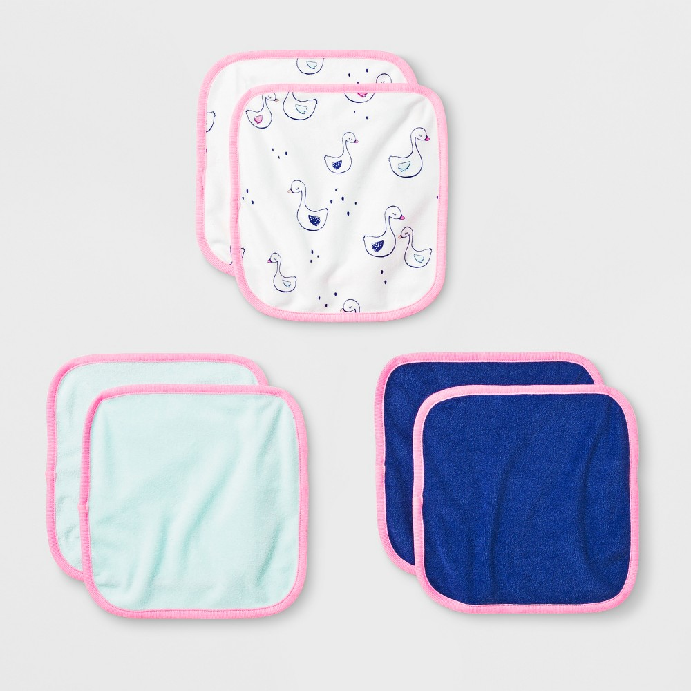 Image of Baby Girls' 6pk Washcloth Set - Cloud Island, Victory Blue
