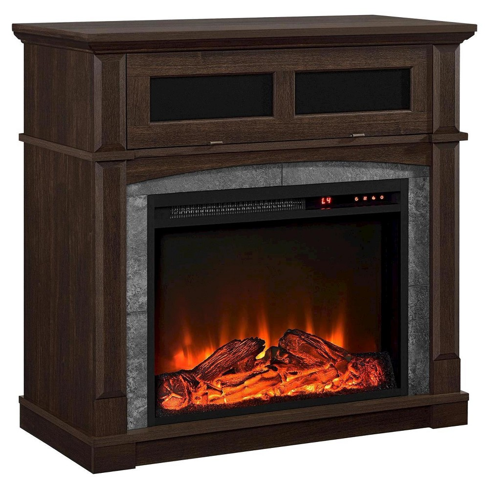 "Image of ""37"""" Garland Electric Fireplace TV Stand Cherry - Room & Joy, Red"""