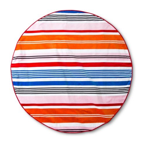 "Beach Towel 60"" Round Sneaky Blue - image 1 of 1"