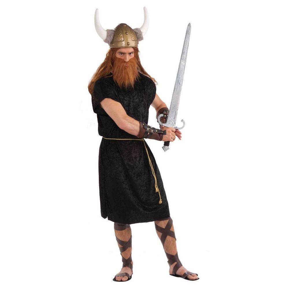 Image of Halloween Men's Black Roman Tunic Adult Costume X-Large, MultiColored
