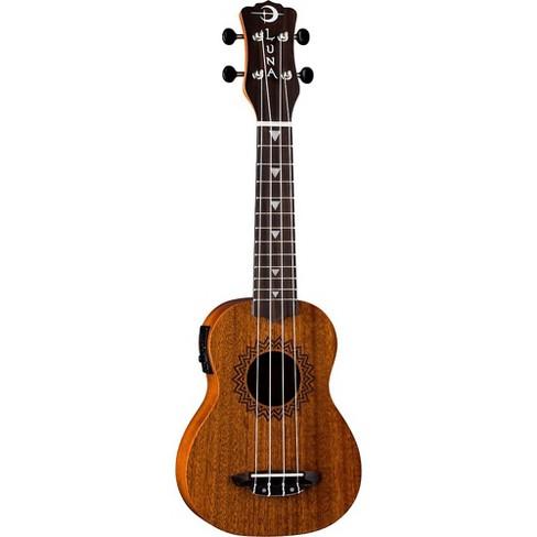 Luna Guitars Vintage Mahogany Soprano Acoustic-Electric Ukulele Satin Natural - image 1 of 5