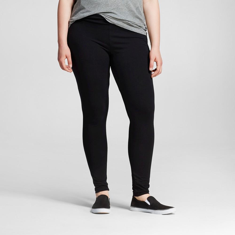 Women's Plus Size Leggings - Ava & Viv - Black 4X