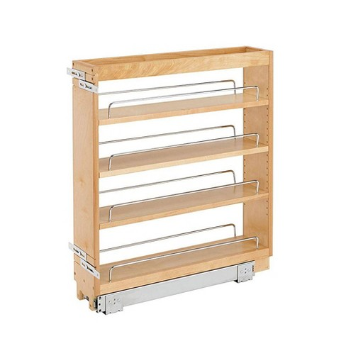 Rev A Shelf 448-BC-6C 6.5 Inch Pull Out Wood Base Kitchen Cabinet Organizer - image 1 of 4