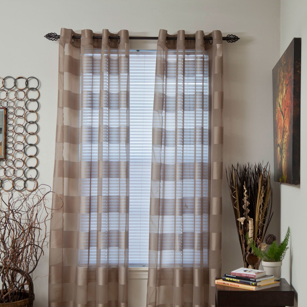 Yorkshire Home Sofia Grommet Curtain Panel - Taupe Brown (54