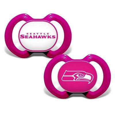 NFL Seattle Seahawks Pink Pacifiers 2pk