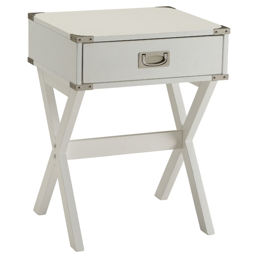Promos End Table White - Acme Furniture