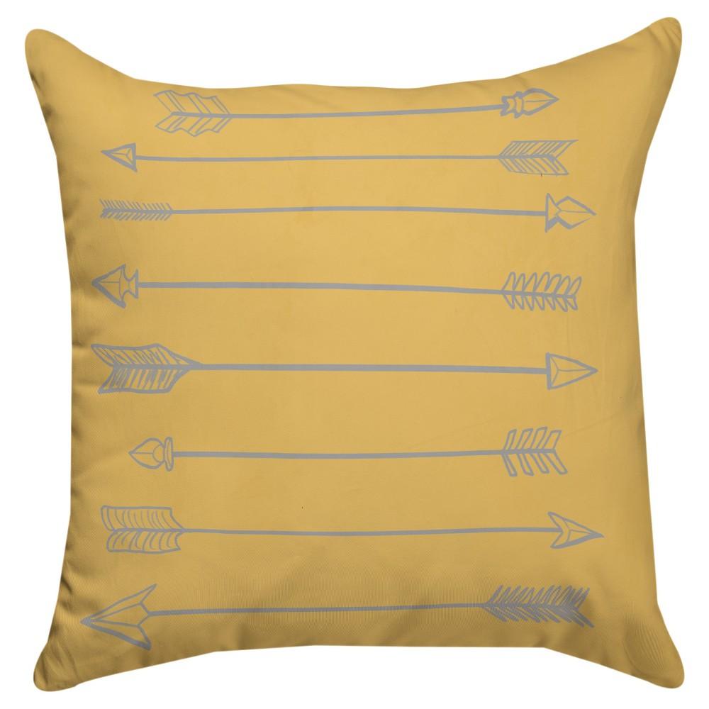 Yellow Arrow Throw Pillow (18