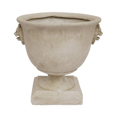 "13"" Simba Lightweight Concrete Patio Urn Planter White - Christopher Knight Home"