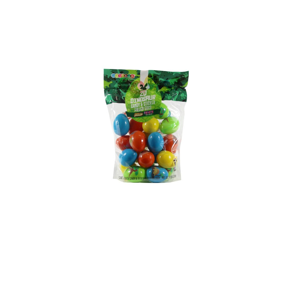 Galerie Dinosaur Candy & Sticker Candy Filled Eggs - 20ct/1.89oz