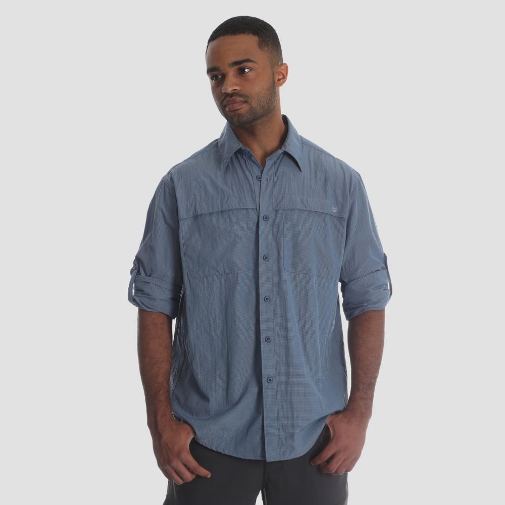 Wrangler Men's Outdoor Long Sleeve Eddie Shirt - Dark Blue Xxl