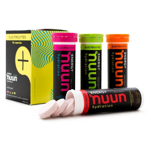 Nuun Hydration Energy Electrolytes + Caffeine Drink Tabs - Wild Berry/Fresh Lime/Cherry Limeade/Mango Orange - 40ct/4pk - image 1 of 5