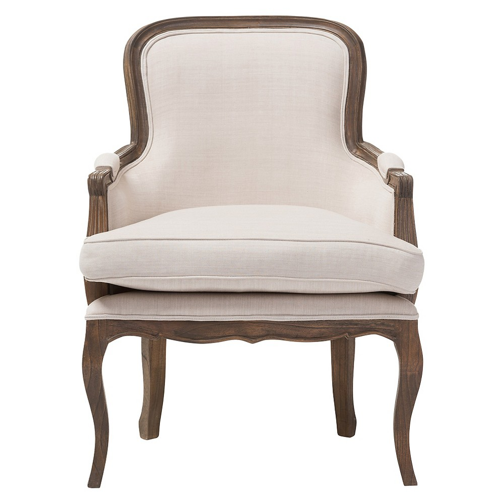 Napoleon Traditional French Accent Chair Ash - Baxton Studio, White