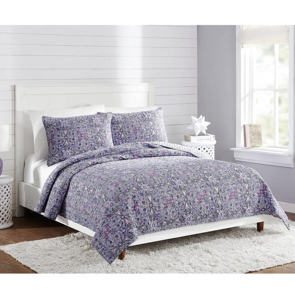 Image of Full/Queen Kaleidoscope Quilt Purple - Vera Bradley
