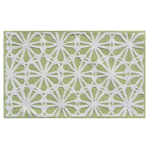 Green Floral Area Rug (3'x5') - The Rug Market - image 1 of 2