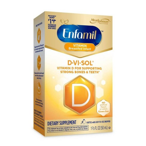 Enfamil D-Vi-Sol Infant Vitamin D Dietary Supplement Liquid Drops - 1.69oz - image 1 of 4