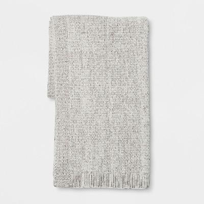 Gray Marled Sweaterknit Throw Blanket 50 X60  - Threshold™