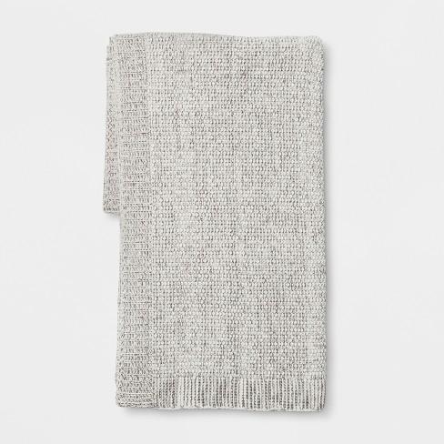 Gray Marled Sweaterknit Throw Blanket 50x60 Threshold Target