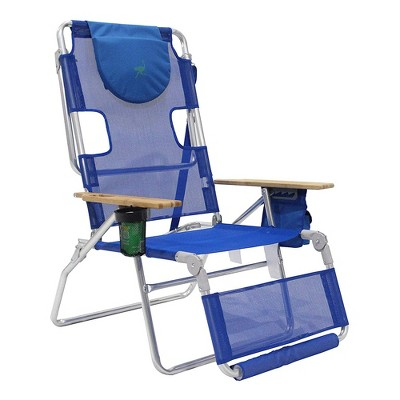 Ostrich 3-N-1 Altitude Outdoor Lounge Reclining Beach Lake 16-Inch Height Chair, Blue