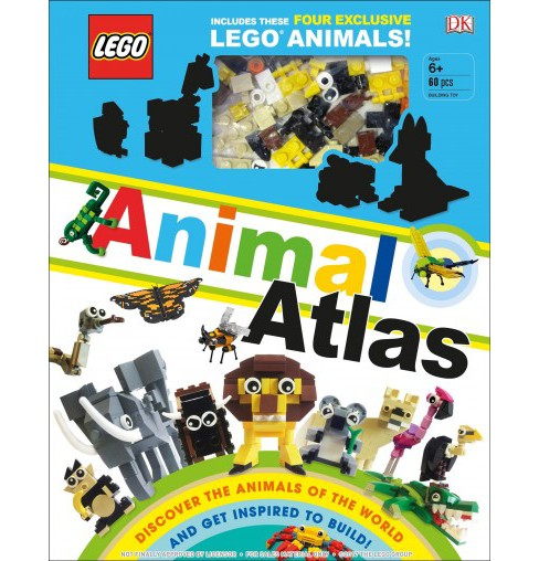 Lego Animal Atlas : Discover the Animals of the World and Get Inspired to Build! -  (Hardcover) - image 1 of 1