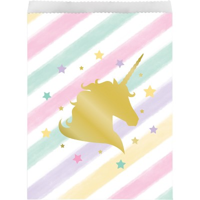 10ct Unicorn Sparkle Treat Bags