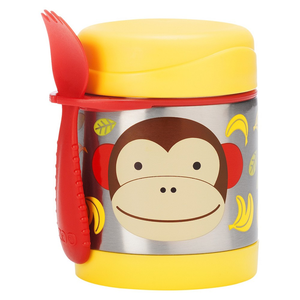Image of Skip Hop Zoo Little Kids & Toddler Insulated Stainless Food Jar & Utensil - Monkey