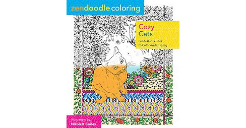 Cozy Cats ( Zendoodle Coloring) (Paperback) - image 1 of 1