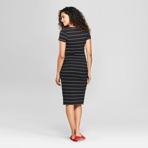 bac74f8b23977 Maternity Short Sleeve Shirred Striped T - Shirtdress - Isabel Maternity by  Ingrid & Isabel™. Shop all Isabel Maternity by Ingrid & Isabel
