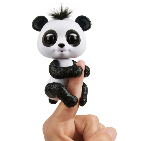 Fingerlings - Interactive Baby Panda - Drew (Black & White) By WowWee - image 1 of 8