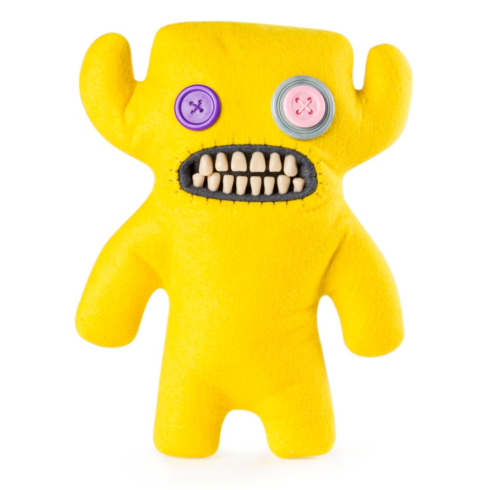 Fuggler Funny Ugly Monster, 9 Grumpy Grumps Plush Creature with Teeth - Yellow