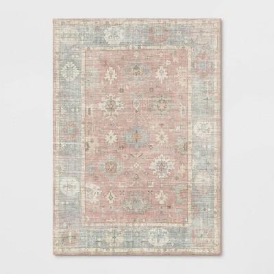 5'x7' Attleboro Digital Print Boarder Persian Rug Blush - Threshold™