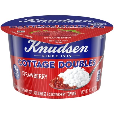 knudsen strawberry cottage cheese doubles 4 7oz target rh target com