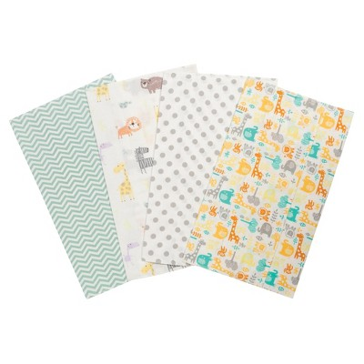 Trend Lab Jungle Flannel Burp Cloth Set - Mint 4pk