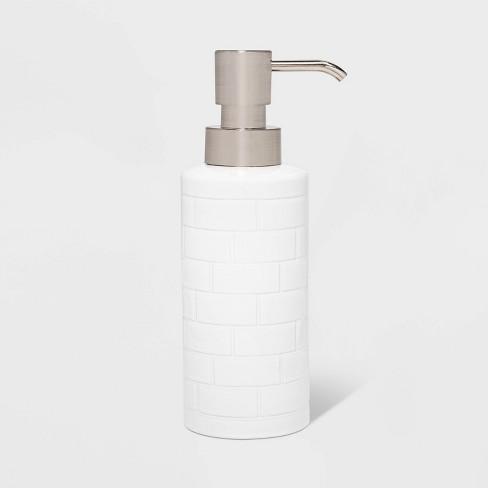Tile Soap Pump White - Threshold™ - image 1 of 4