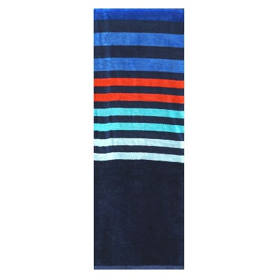 XL Multi Stripe Beach Towel Navy Voyage