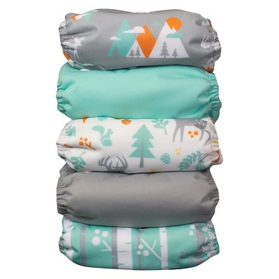 Thirsties Snap One Size All In One Woodland Collection - Mountain
