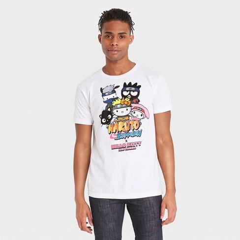 Men's Naruto x Sanrio Short Sleeve Graphic T-Shirt - White - image 1 of 2