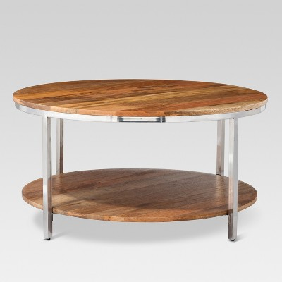 Merveilleux Berwyn Round Coffee Table Metal And Clear Wood   Threshold™