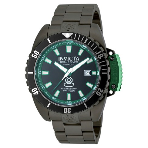 Men's Invicta 19871 Pro Diver Automatic 3 Hand Black Dial Link Watch - Black - image 1 of 1