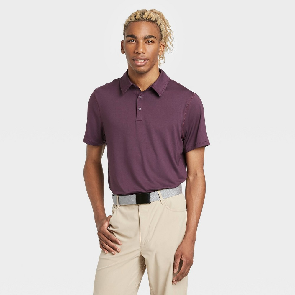 Men's Jersey Golf Polo Shirt - All in Motion Purple S was $20.0 now $12.0 (40.0% off)