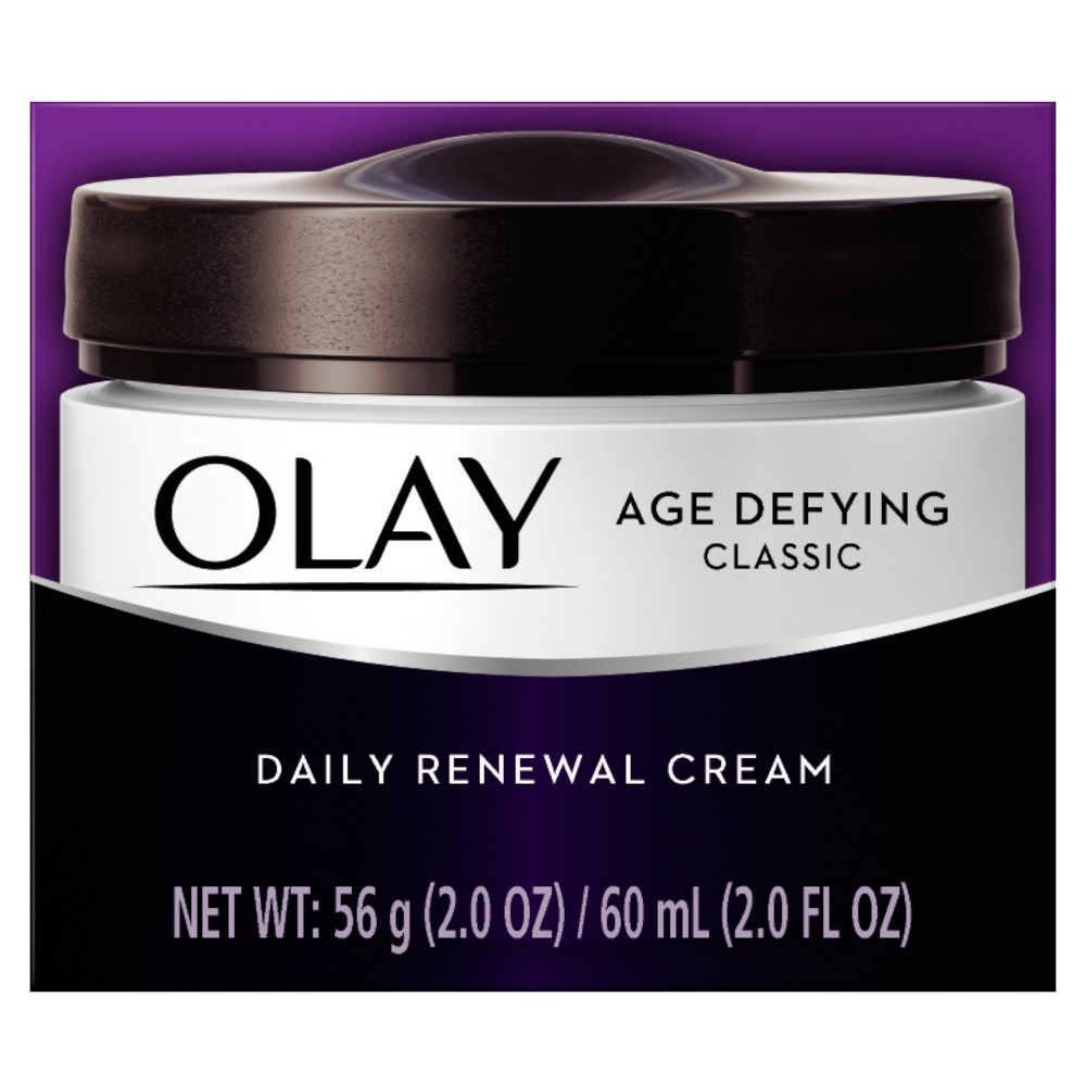 Image of Olay Age Defying Classic Daily Renewal Cream Facial Moisturizer - 2 oz