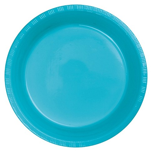 "Bermuda Blue 9"" Plastic Plates - 20ct - image 1 of 3"