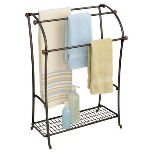 York Lyra Free Standing Towel Rack Split Bronze Interdesign Target
