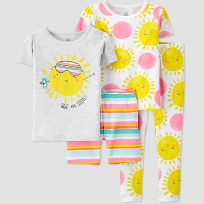Toddler Girls' 4pc Striped Sunshine Pajama Set - Just One You® made by carter's