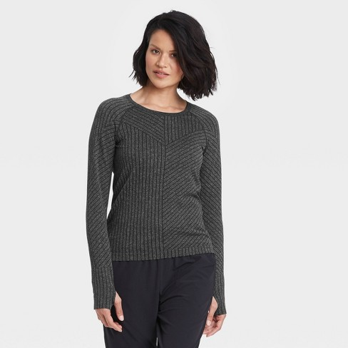 Women's Long Sleeve Seamless Top - All in Motion™ - image 1 of 4